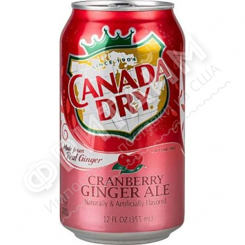 Canada Dry Cranberry Ginger Ale, 0.355л, США