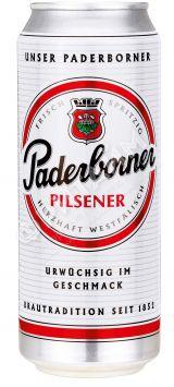 Пиво Paderborner Pilsener, светлое, алк 4.8%, 0.5 л, ж/б, Германия