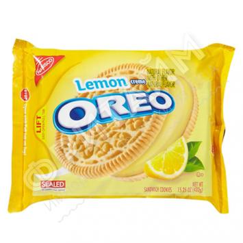 Oreo-Sandwich Cookies, Lemon creme, 432 гр, США