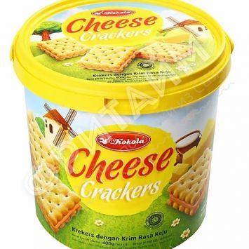 Печенье сэндвич-крекер Soft Crackers Sandwich Cheese (сыр) 400 гр, Индонезия