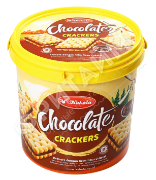 Печенье сэндвич-крекер Soft Crackers Sandwich Chocolate (шоколад) 400 гр, Индонезия