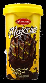 Вафельные трубочки Kokola Majorico Choco Banana (шоколад-банан) 250гр, Индонезия