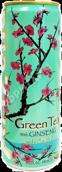 Arizona Green Tea With Ginseng and Honey (Зелёный чай с мёдом), 0.340л, США