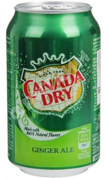 Canada Dry Ginger Ale (имбирный эль), 0.330л, Польша