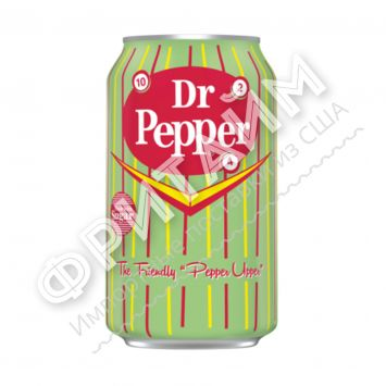 Dr. Pepper Real Sugar, 0.355л, США