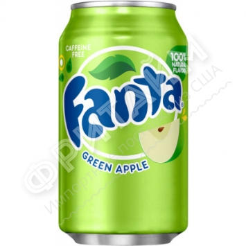 Fanta Fruit Green Apple, 0.355л, США