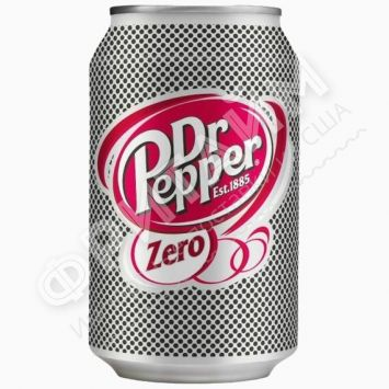 Dr. Pepper Zero, 0.330л, ж/б, Польша