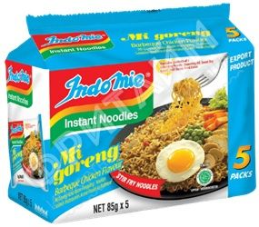 Лапша Indomie Mi Goreng BBQ Chicken (курица барбекю) мультипак, 5*85 г
