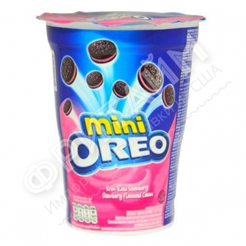 Oreo Mini Strawberry Cream, 67 гр, Индонезия