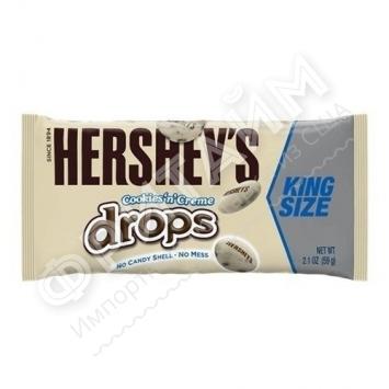 Драже в глазури из белого шоколада с кусочками печенья Hershey's, 59гр, США