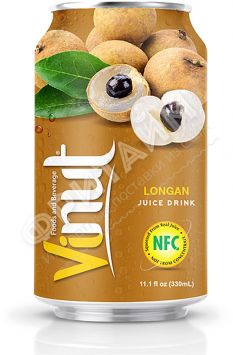 VINUT Longan  juiсe drink (Лонган) 0,33 л, Вьетнам