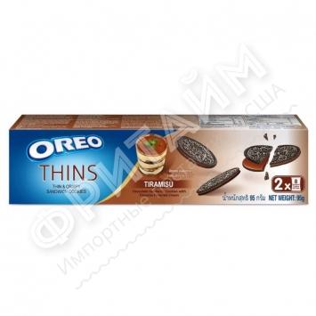 Oreo Thins Vanilla Tiramisu Sandwich Cookies, 95 гр, Индонезия