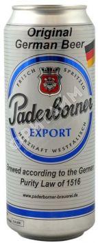 Пиво Paderborner Expor, светлое, алк 5.5%, 0.5 л, ж/б, Германия