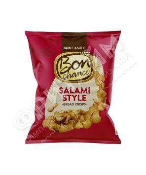 Xлебные чипсы «Bon chance», cо вкусом салями, 60 гр.
