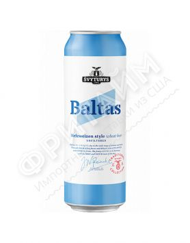 Пиво Svyturys Baltas (Швитурис Балтас) алк 5.0% 0.568 банка