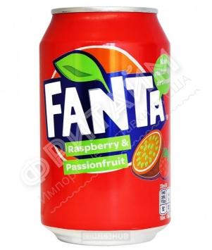 Fanta Raspberry & Passionfruit, 0.330л, Дания