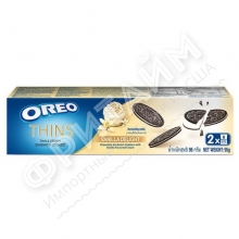 Oreo Thins Vanilla Delight Chocolate Sandwich Cookies, 95 гр, Индонезия