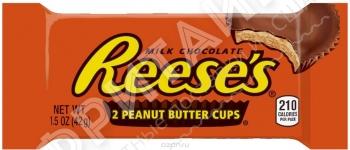 Шоколадные тарталетки с арахисовой пастой Hershey's Reese's, 42гр (2 шт.), США