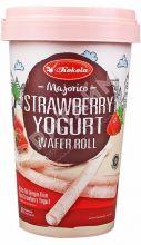 Вафельные трубочки Mini Majorico Strawberry Yoghurt (клубничный йогурт) 120гр, Индонезия