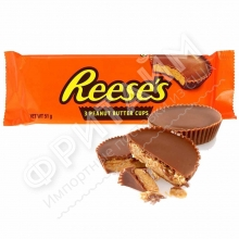 Шоколадные тарталетки с арахисовой пастой  Hershey's Reese's, 51гр (3 шт.), США