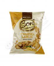 Xлебные чипсы «Bon chance», с чесноком и сыром, 120 гр.