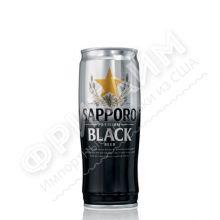 Пиво Sapporo Black, темное, алк 5.0%, 0.65 л, ж/б, Вьетнам