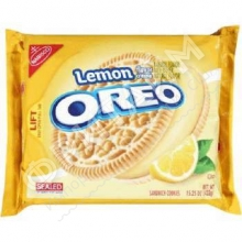 Oreo-Sandwich Cookies, Lemon Creme, 432 гр, США
