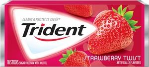 Жевательная резинка Тридент Клубничный вкус