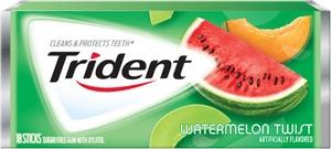 Жевательная резинка Trident Gum Watermelon Twist, США