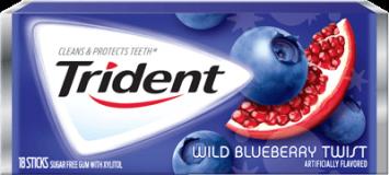 Жевательная резинка Trident Blueberry Twist, США