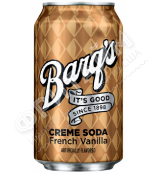 Bargs cream soda french vanilla, 0.335l, США