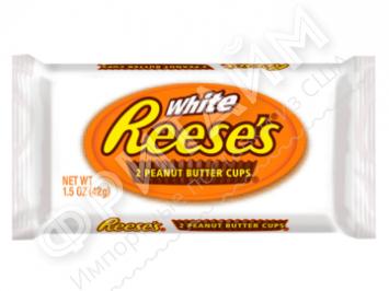Тарталетки из белого шоколада с арахисовой пастой Hershey's Reese's, 42гр (2 шт.), США