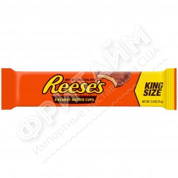 Шоколадные тарталетки с арахисовой пастой King Size Reese's, 79g (4 шт.), США