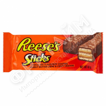 Шоколадный батончик с арахисовой пастой Hershey's Reese's, 42гр, США