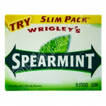 Жевательная резинка Wrigley Gum Spearmint Sweet Mint, США