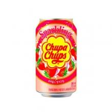 Chupa-Chups Sparkling Strawberry Cream, 0.345л, Южная Корея