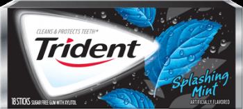 Жевательная резинка Trident Splashing Mint, США