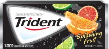 Жевательная резинка Trident Gum Splashing Fruit, США