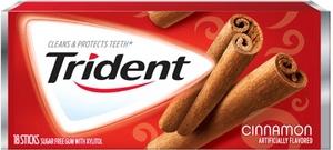 Жевательная резинка Trident Original Cinnamon, США