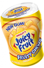 Жевательная резинка Wrigley Gum Juicy Fruit Original fruity chews, США