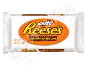 Тарталетки из белого шоколада с арахисовой пастой Hershey's Reese's, 42g (2 шт.), США