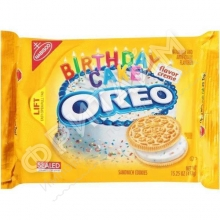 Oreo Golden Birthday Cake Flavor Creme Sandwich Cookies, 432 гр, США